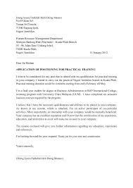 Sample Cover Letter Internship Malaysia Viactu Com