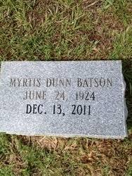 Myrtis Aline Dunn Batson (1924-2011) - Find A Grave Memorial