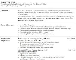 Executive Chef Resume Sample Experience Resumes