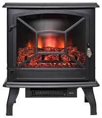 20 black freestanding 2 settings logs portable electric fireplace heater