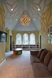 pitched ceiling lighting. sloped ceiling lights kids eclectic with clipped knotty alder doors special lighting pitched i