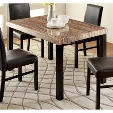 Shop Furniture Of America Dymen Contemporary Faux Marble Top Dining