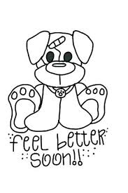 Funny Get Well Soon Coloring Pages Carriembeckerme