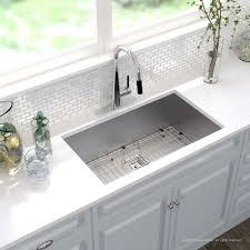 zero radius 31 inch handmade undermount single bowl 16 gauge stainless steel kitchen sink with