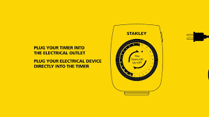 Stanley Christmas Light Timer Stanley Mechanical Timers How To Instructional Video