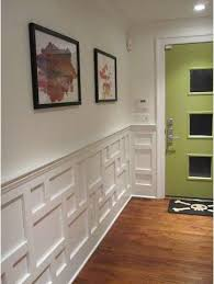 White wainscot dark floors