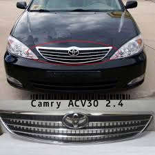 For Toyota Camry ACV30 2.4 Front Chrome Grille With LOGO 2002 2003 ...