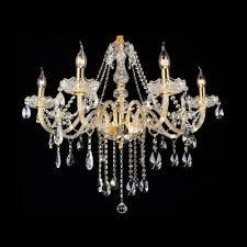 large 31 5 wide 8 light golden crystal strands chandelier hanging crystal droplets