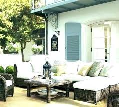 pottery barn outdoor table inspired garden furniture patio woven deck and chairs ham reviews outdo