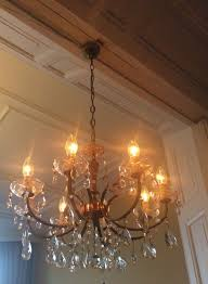 marie therese chandelier with 8 arms and crystal glass drip trays