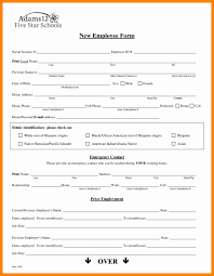 New Hire Form Template New Hire Employee Details Form Template