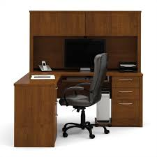 bestar embassy l shape home office wood computer desk set with hutch in tuscany brown bestar embassy corner desk