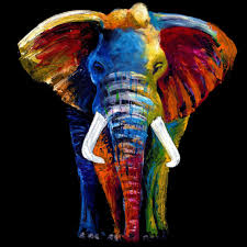 glass wall art majestic elephant 100cm