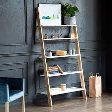L Ashme Ladder Shelf White Ragaba Woman Cave Shelves