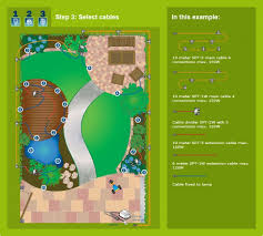 plug play lapis grey rock submersible outdoor spotlight garden light