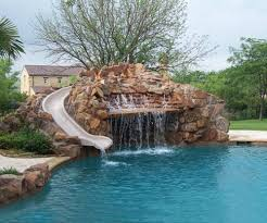 Impressive Home Swimming Pools With Slides This Pin And More On Backyard By Inside Creativity Design