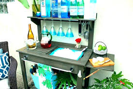 outside potting table outdoor potting bench with storage potting table with storage outdoor potting bench potting