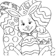 easter coloring templates. Simple Easter Bunny And Easter Eggs Coloring Pages With Templates P