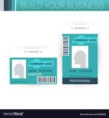 Business Badge Template Design