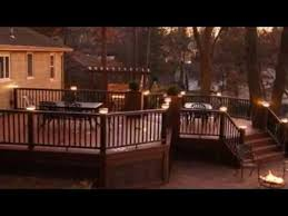 Backyard Deck Design Ideas Extraordinary 48 Must See Deck Lighting Ideas YouTube