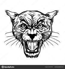Tetování Tygr Divoký Obličej Stock Fotografie Valik4053022