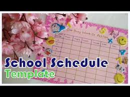 Diy Make Your Own School Timetable Schedule Template