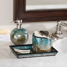 Bathroom Vanity Accessory Sets Madison Park Mosaic 3 Piece Bath Accessory Setdesigner Living