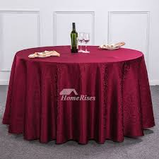 pictures show light brown burdy red ivory 120 inch round tablecloth
