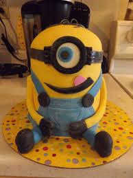 Boy Minion Birthday Cake My First Ever Fondant Cakes Cakecentralcom