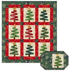Tree Quilt Patterns Delectable QDNW Very Merry Christmas Trees Quilt Pattern
