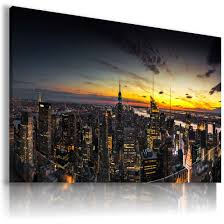 NEW YORK CITY BY NIGHT View Canvas Wall ...
