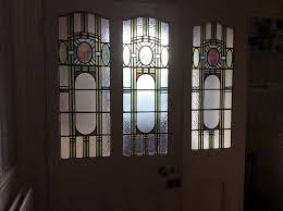 original stained glass internal door and panels