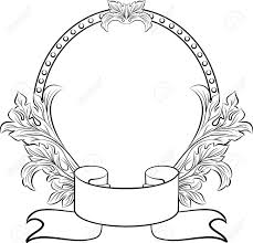 Gothc clipart oval filigree frame Pencil and in color gothc