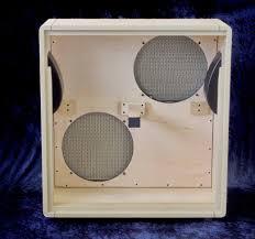 2x12 Speaker Cabinet 2x12 Speaker Cabinet Marshall Style Slant Smmothe White Blonde