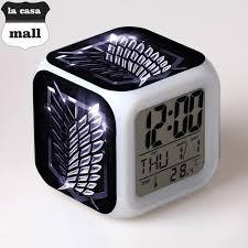 manga on titan alarm clocks glowing led color change digital desk clocks children s colorful animation