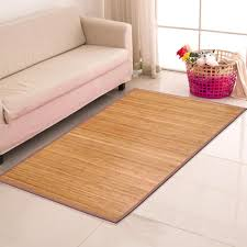 brown bamboo rug area mat bamboo wood carpet natural 4x 6 how to clean