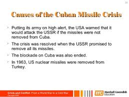 chapter cold war warcopyright 2006 39 39 causes of the n missile crisisiuml131152