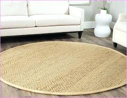 image of 5 round rug in living room