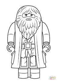 Small Picture Lego Rubeus Hagrid Minifigure coloring page Free Printable