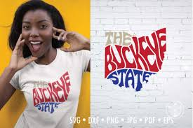 By downloading ohio state buckeyes vector logo you agree with our terms of use. The Buckeye State Word Art Ohio Graphic By Prettydd Creative Fabrica