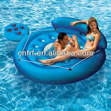 pool water with float. Inflatable Island Float Lounge Relaxing Pool Water Toy With U
