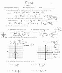 graphing quadratic functions worksheet fresh vertex form a quadratic function worksheet gallery form
