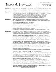 Video Production Resume Samples Video Resume Examples Video Resume Examples Of Resumes Video