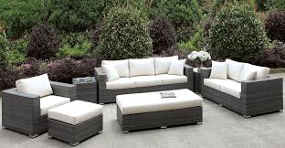 Ivory Living Room Furniture Somani Gray And Ivory Living Room Set Cm Os2128 E Furniture Of