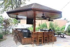 Outdoor Kitchen Roof Fun Ideas For Outdoor Kitchen Plans Mybktouchcom Mybktouchcom
