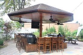 Outdoor Kitchen Roof Fun Ideas For Outdoor Kitchen Plans Mybktouchcom Mybktouchcom
