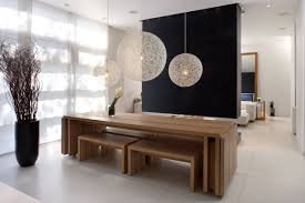 modern wood dining table. terrific modern dining room decor with wooden table and black fireplace decorating ideas wood .