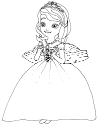 Sofia The First Coloring Pages Princess Sofia Angel Costume