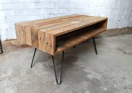 DIY Pallet Coffee Table On Hair Pin Legs  99 PalletsPallet Coffee Table With Hairpin Legs