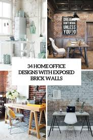 designs office. Home Office Designs With Exposed Brick Walls Cover